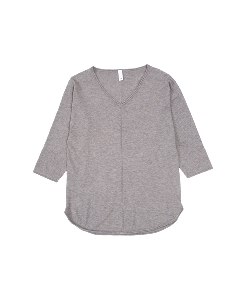 THE CORE KNITTED VNECK IN GREY