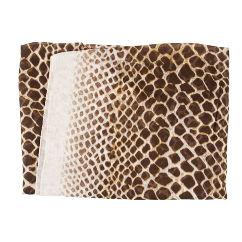 Brown Leopard Print Light Weight Scarf