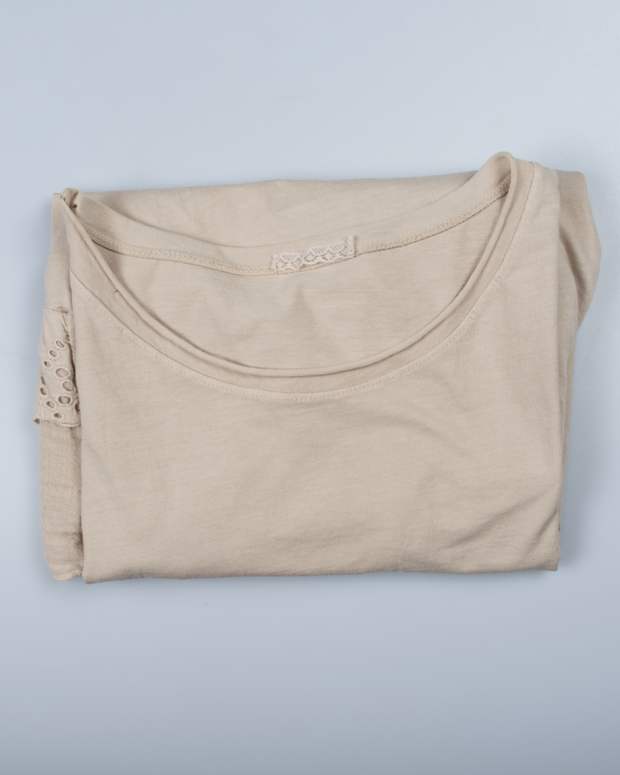 Embroidered Top in Italian Cotton