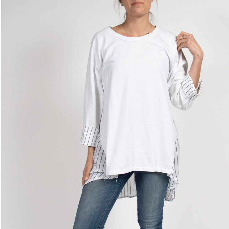 Oversize Tunic Top with  Italian Linen