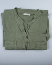 Button Down Top in Italian Linen
