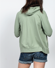 Essential Zip-Up Hoodie in Green