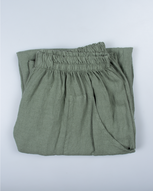 Green Pants in Italian Linen