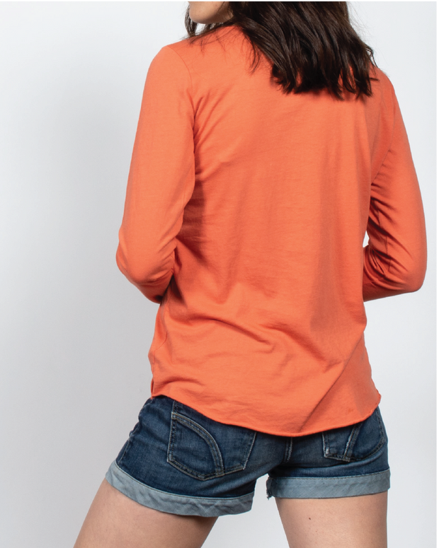 Essential Long Sleeve in Orange