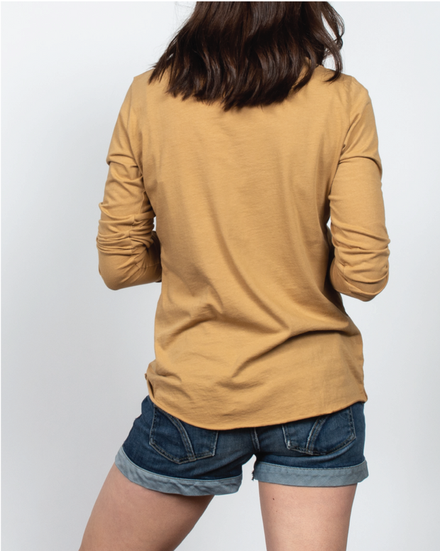 Essential Long Sleeve in Tan