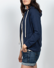 Essential Zip-Up Hoodie in Dark Navy