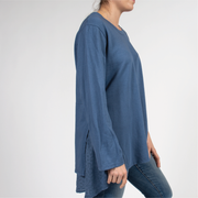 Layered Tunic Top with Italian Linen