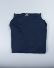 Essential Mock-Neck in Dark Navy