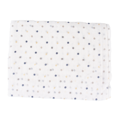 White Dot Light Weight Scarf