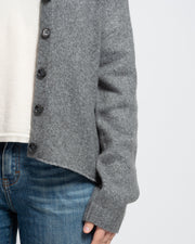 Arched Hem Cardigan - Grey