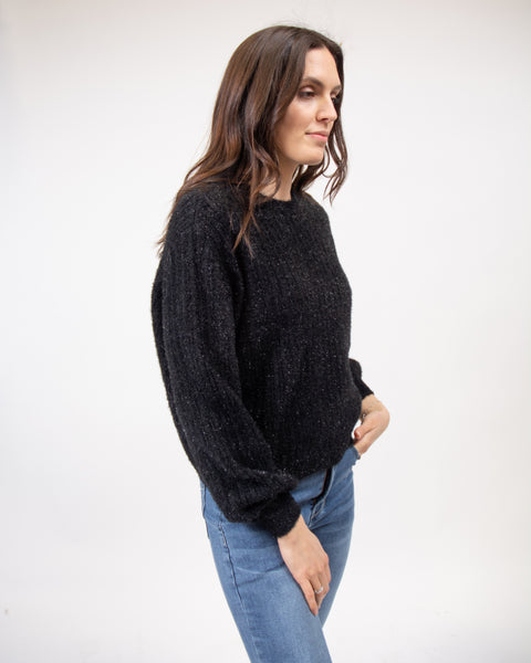 Sparkle Sweater in Black