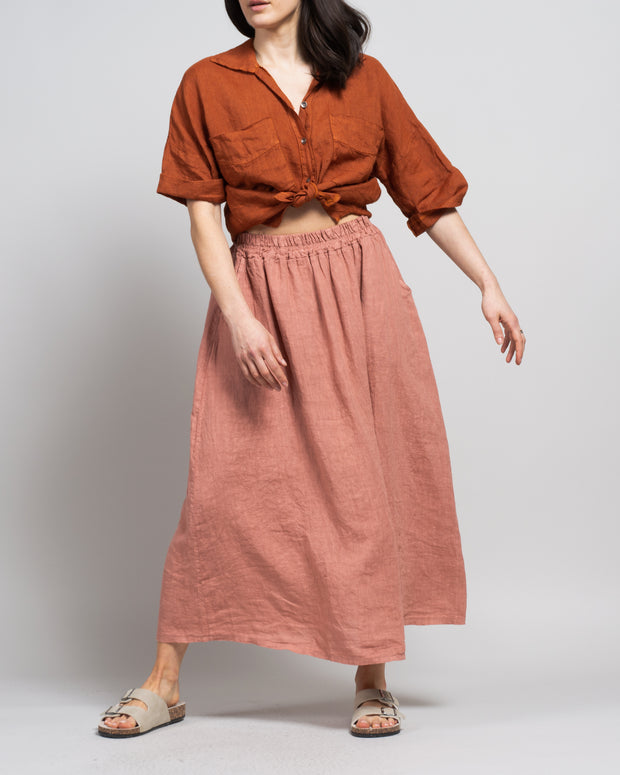 Fruscio Skirt in Dusty Rose