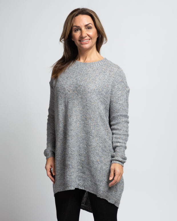 Melange Knit Tunic