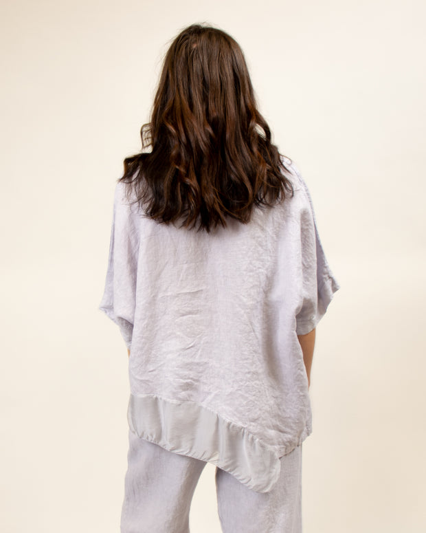 Italian Linen/Silk Top in Lilac