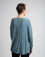 Embroidered Vine Detail Sweater - Blue