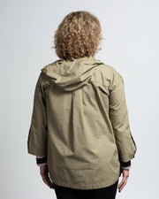 Hooded Cotton Jacket - Green