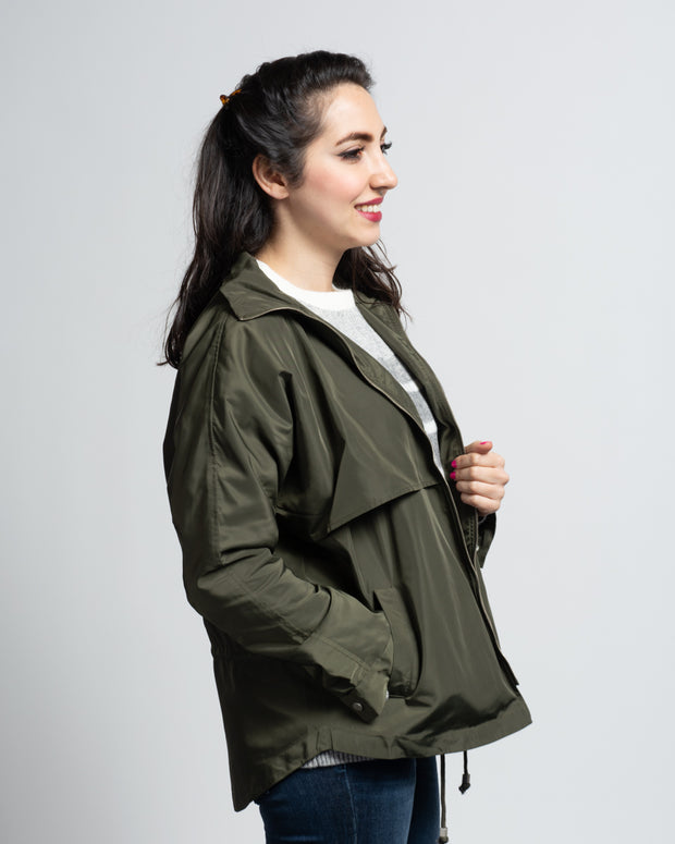 Panelled Windbreaker - Green