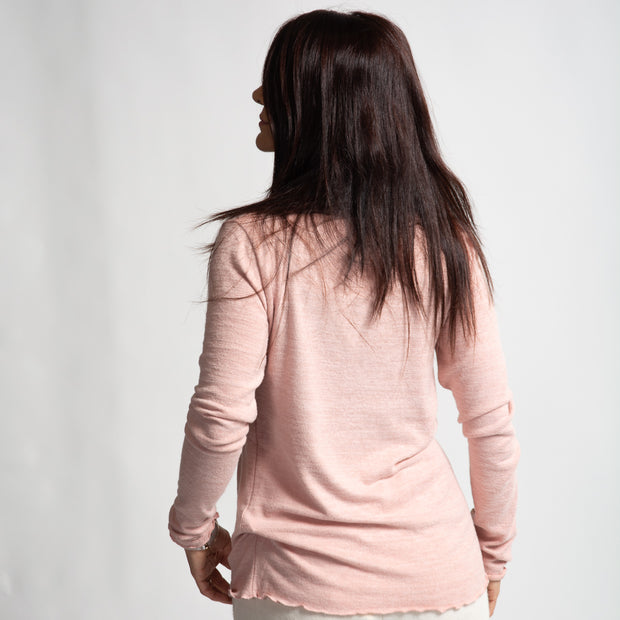 Long Sleeve Mock Neck - Pink