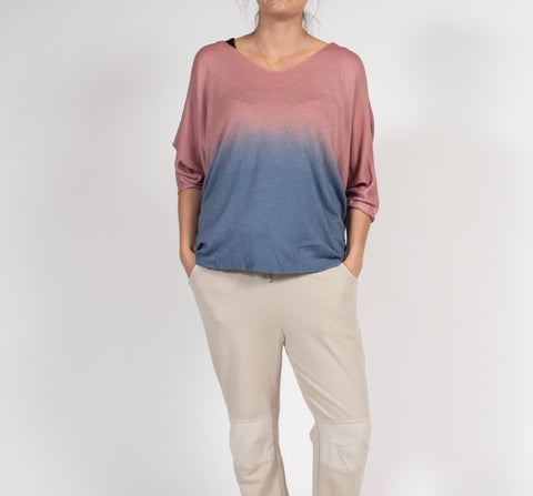 Dip Dyed Summer Sweater in Italian Knit