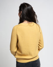 Collarless Cardigan