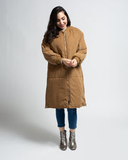 Padded Utility Coat - Khaki