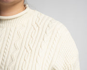 Visual Detail Knit Sweater - Red