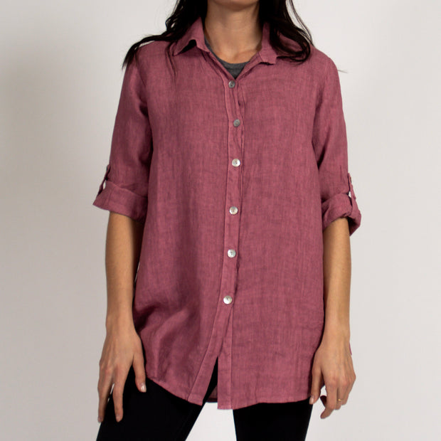 Rose Classic Tunic in Italian Linen