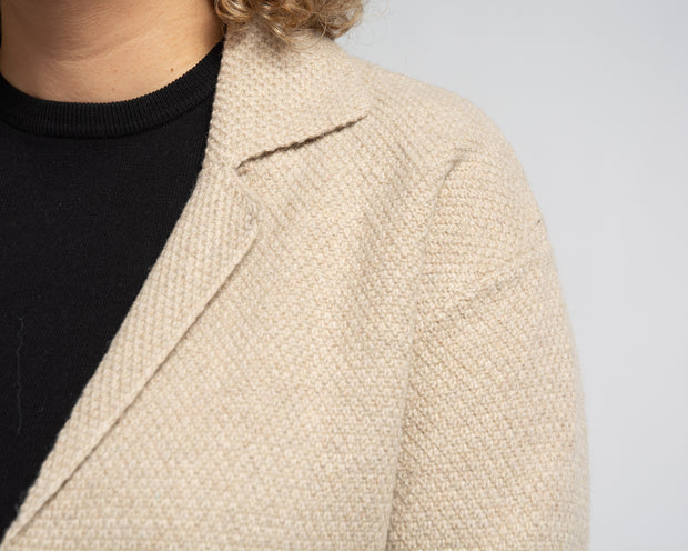 Cardi Jacket with Lapels - Tan