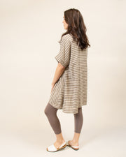 Stripe Linen Tunic Top