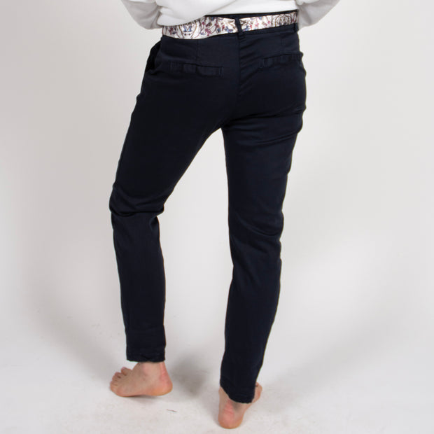 Navy Chino Pants in Italian Cotton