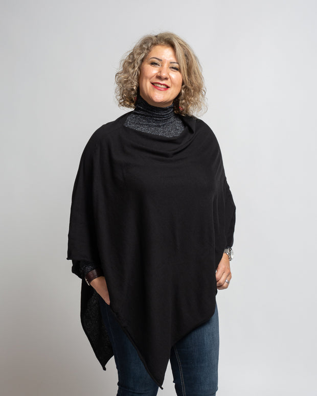 Caposhie Exclusive Poncho - Black