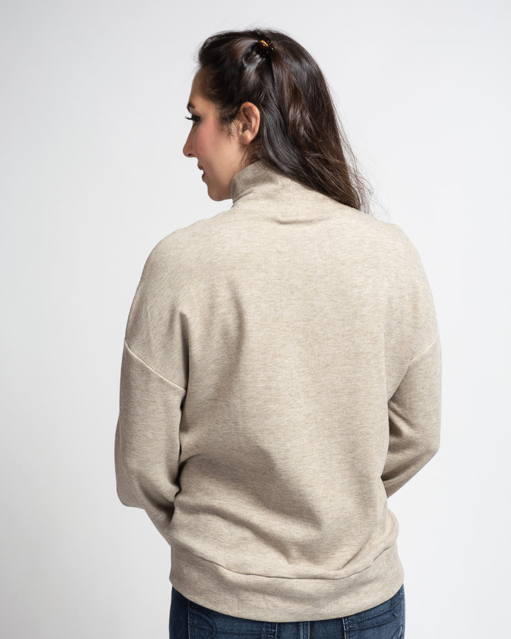 Turtleneck Sweatshirt - Beige