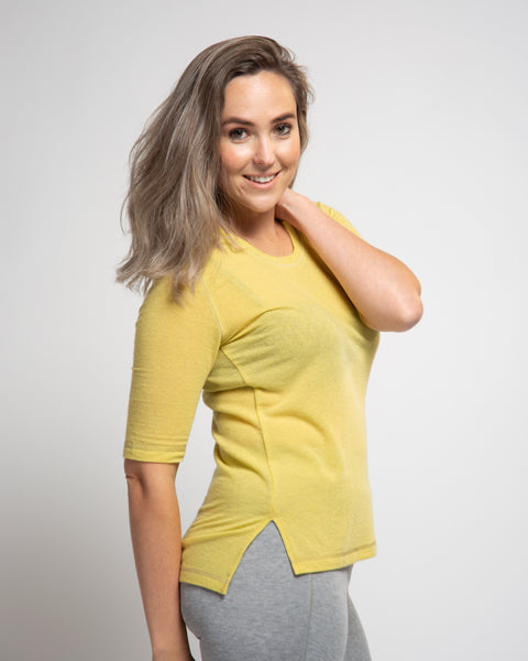 Wool Blend Dream Tee - Yellow