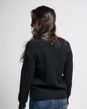 V-Neck Sweater - Black