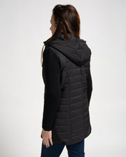 Quilted Knit Zip Jacket - Black