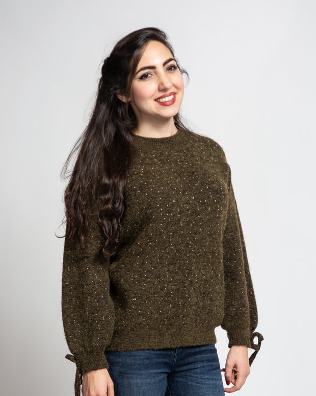 Speckled Sweater - Olive