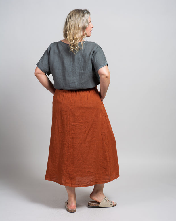 Fruscio Skirt in Baked Clay