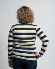 Multi-Stripe Long Sleeve Tee - Yellow