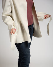 Felted Collarless Jacket
