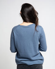 Basic Knit Pullover - Blue