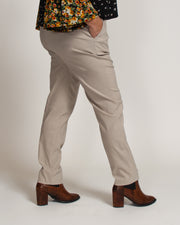 Tapered Fit Stretch Trouser - Beige