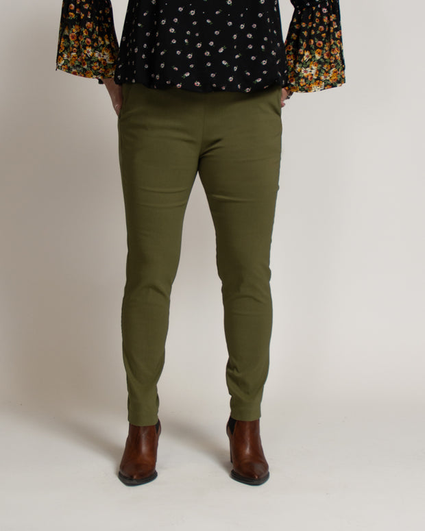Tapered Fit Stretch Trouser - Green