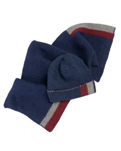 Toque and Scarf Set - Navy