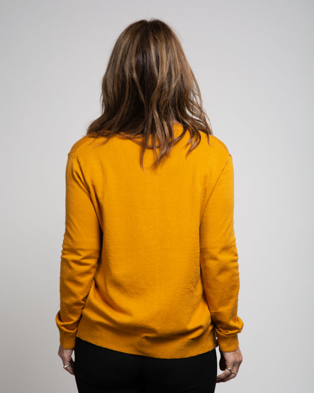 Side Button Detail Cardigan - Yellow