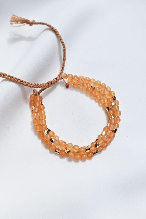 Orange Dyed Jade Bracelet