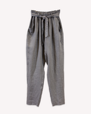 Conica Tapered Linen Pant in Grey