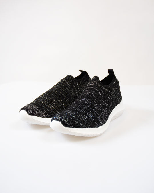 KNITTED SOCK SNEAKER in BLACK