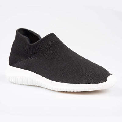Knitted Sock Shoe - Black