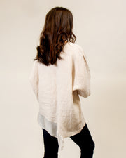 Italian Linen/Silk Top in Beige