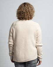 Cutaway Hem Sweater - Cream